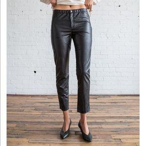 $265 Isabel Marant zeffery faux leather pants 40/8